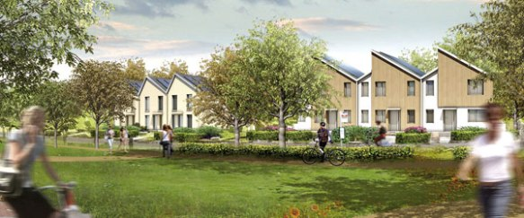Proposed housing on the NW Bicester Exemplar development